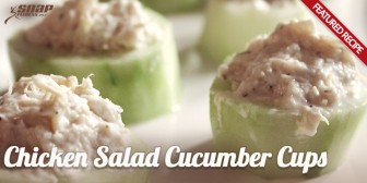 Featured Recipe: Chicken Salad Cucumber Cups