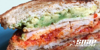 Buffalo Chicken Avocado Panini With Roasted Red Pepper Spread