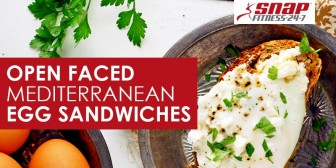 Open Faced Mediterranean Egg Sandwiches