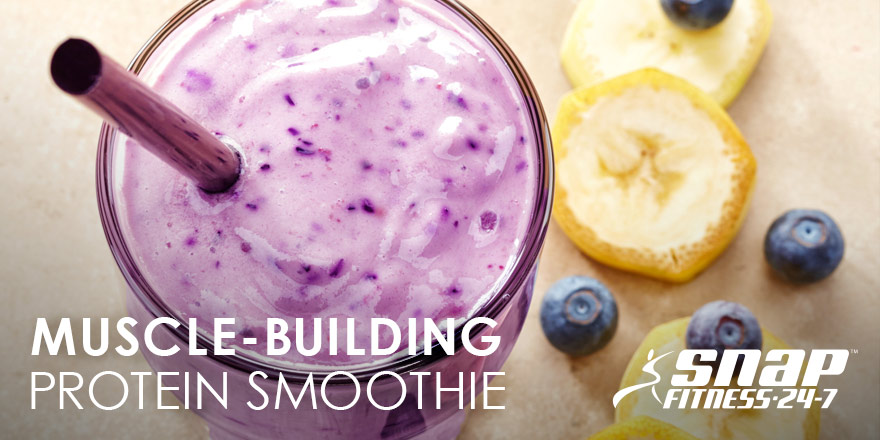Muscle-Building Blueberry Banana Protein Smoothie
