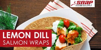 Lemon Dill Salmon Wraps