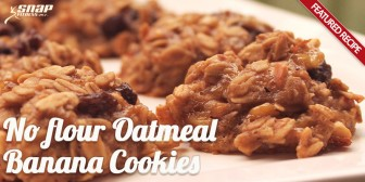 Featured Recipe: No Flour Oatmeal Banana Cookies