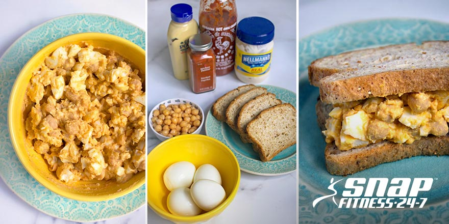 Smashed Chickpea Egg Salad