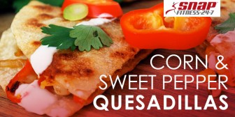 Corn and Sweet Pepper Quesadillas