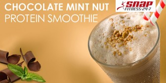 Chocolate Mint Nut Protein Smoothie
