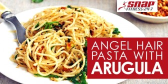 Angel Hair Pasta with Lemony Pistachios and Arugula