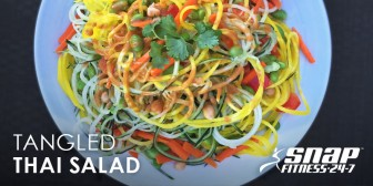 Tangled Thai Salad with Peanut Dressing