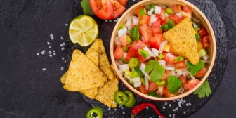 Corn Chips with Fresh Veg Salsa