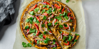 BBQ Chicken Pizza with Sweet Potato Crust