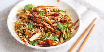 Sticky Chicken Asian Salad